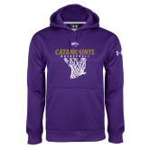 Under Armour Purple Performance Sweats Team Hoodie-Basketball Net Design