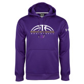 Under Armour Purple Performance Sweats Team Hoodie-Basketball Half Ball