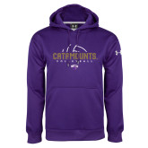 Under Armour Purple Performance Sweats Team Hoodie-Abstract Volleyball