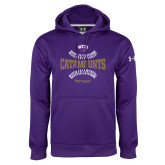 Under Armour Purple Performance Sweats Team Hoodie-Softball Seams Design