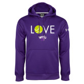 Under Armour Purple Performance Sweats Team Hoodie-Love Tennis