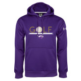 Under Armour Purple Performance Sweats Team Hoodie-Golf Lines Design