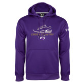 Under Armour Purple Performance Sweats Team Hoodie-Cross Country Shoe Design