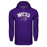 Under Armour Purple Performance Sweats Team Hood-WCU w/Head
