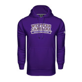 Under Armour Purple Performance Sweats Team Hoodie-Western Carolina Catamounts