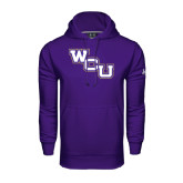 Under Armour Purple Performance Sweats Team Hoodie-WCU
