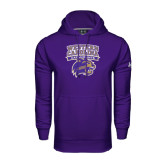 Under Armour Purple Performance Sweats Team Hood-Western Carolina Catamounts Stacked