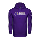 Under Armour Purple Performance Sweats Team Hood-Alumni