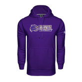 Under Armour Purple Performance Sweats Team Hood-Football