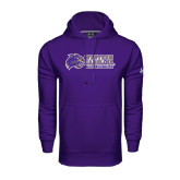 Under Armour Purple Performance Sweats Team Hood-Track and Field