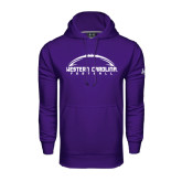Under Armour Purple Performance Sweats Team Hood-Arched Football Design
