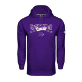 Under Armour Purple Performance Sweats Team Hood-Baseball Crossed Bats Design