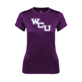 Ladies Syntrel Performance Purple Tee-WCU