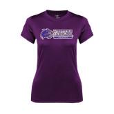 Ladies Syntrel Performance Purple Tee-Alumni