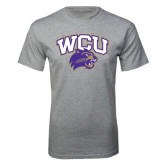Sport Grey T Shirt-WCU w/Head