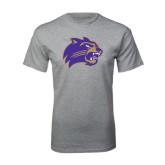 Grey T Shirt-Catamount Head