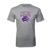 Sport Grey T Shirt-Western Carolina Catamounts Stacked