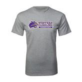 Grey T Shirt-Western Carolina Catamounts Side Logo