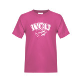 Youth Cyber Pink T Shirt-WCU w/Head