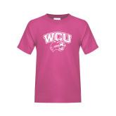 Youth Fuchsia T-Shirt-WCU w/Head