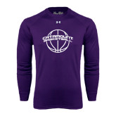 Under Armour Purple Long Sleeve Tech Tee-Basketball Ball Design