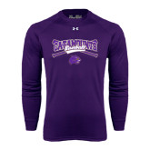 Under Armour Purple Long Sleeve Tech Tee-Baseball Crossed Bats Design