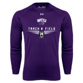 Under Armour Purple Long Sleeve Tech Tee-Track and Field Shoe Design