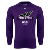 Under Armour Purple Long Sleeve Tech Tee-Track and Field Side Shoe Design