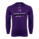 Under Armour Purple Long Sleeve Tech Tee-Can You Dig It - Volleyball Design