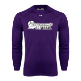 Under Armour Purple Long Sleeve Tech Tee-Softball Script Design