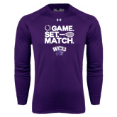 Under Armour Purple Long Sleeve Tech Tee-Game Set Match Tennis Design