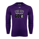 Under Armour Purple Long Sleeve Tech Tee-Tee Off Golf Design