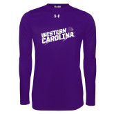 Under Armour Purple Long Sleeve Tech Tee-Western Carolina Slashes