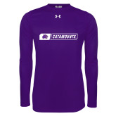 Under Armour Purple Long Sleeve Tech Tee-Catamounts in Box
