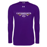 Under Armour Purple Long Sleeve Tech Tee-Football Abstract Ball