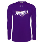 Under Armour Purple Long Sleeve Tech Tee-Football Fancy Lines