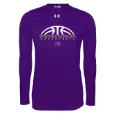 Under Armour Purple Long Sleeve Tech Tee-Basketball Half Ball