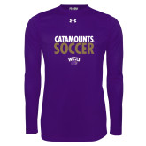 Under Armour Purple Long Sleeve Tech Tee-Soccer Stacked