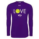 Under Armour Purple Long Sleeve Tech Tee-Love Tennis
