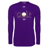 Under Armour Purple Long Sleeve Tech Tee-Golf Flag Design