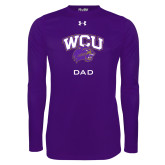Under Armour Purple Long Sleeve Tech Tee-Dad