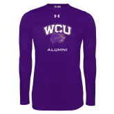 Under Armour Purple Long Sleeve Tech Tee-Alumni