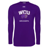 Under Armour Purple Long Sleeve Tech Tee-Grandpa