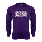Under Armour Purple Long Sleeve Tech Tee-Western Carolina Catamounts
