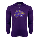 Under Armour Purple Long Sleeve Tech Tee-Catamount Head