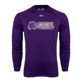 Under Armour Purple Long Sleeve Tech Tee-Football