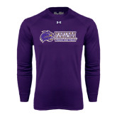 Under Armour Purple Long Sleeve Tech Tee-Track and Field