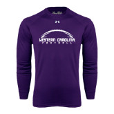 Under Armour Purple Long Sleeve Tech Tee-Arched Football Design
