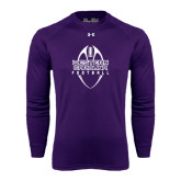 Under Armour Purple Long Sleeve Tech Tee-Tall Football Design