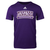 Adidas Purple Logo T Shirt-Western Carolina Catamounts